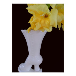 Gladiola in a Glass Boot Poster