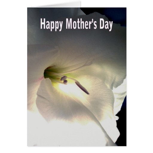 GLADIOLA - MOTHER'S DAY CARD