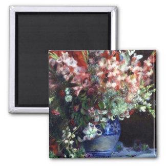 Gladiolas en un florero de Pedro Auguste Renoir Imán Para Frigorífico