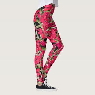 Gladiolas Flowers Floral All Over Print Leggings