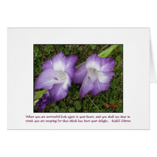 Gladioli Card