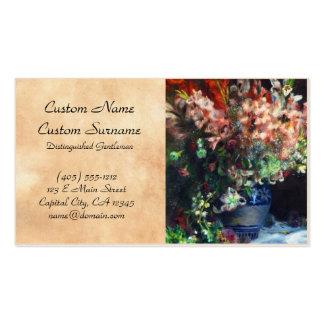 Gladioli in a Vase Pierre Auguste Renoir painting Business Card