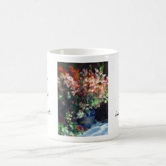 Gladioli in a Vase Pierre Auguste Renoir painting Mugs