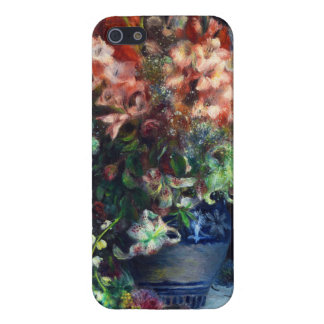 Gladiolos en una pintura de Pedro Auguste Renoir iPhone 5 Carcasas