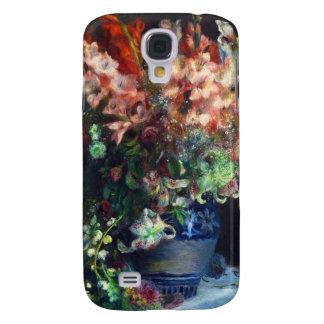 Gladiolos en una pintura de Pedro Auguste Renoir Samsung Galaxy S4 Cover