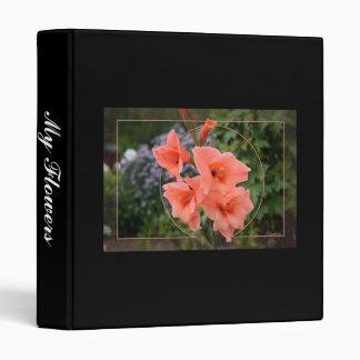 Gladiolus 3 Ring Binder