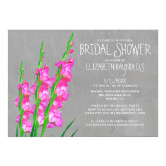 Gladiolus Bridal Shower Invitations Personalized Announcement
