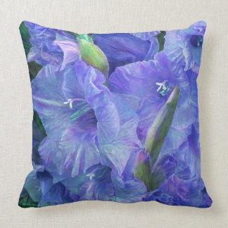 Gladiolus Moods - Lavender Art Decorator Pillow