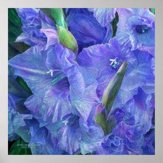 Gladiolus Moods - Lavender Art Poster/Print