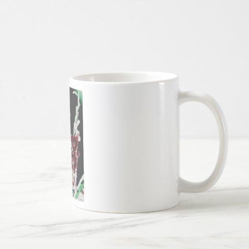 Glads salvaje taza básica blanca