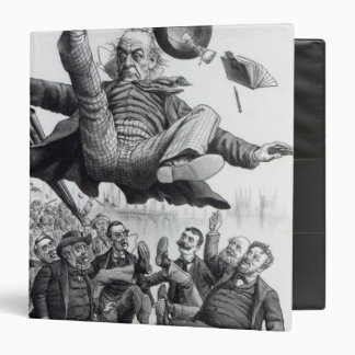 Gladstone being kicked out of parliament, c.1894 3 ring binder