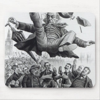Gladstone being kicked out of parliament, c.1894 mouse pad