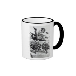 Gladstone being kicked out of parliament, c.1894 coffee mug