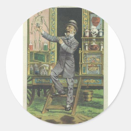 Gladstone el curandero etiqueta redonda