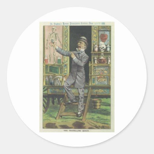 Gladstone el curandero pegatina redonda