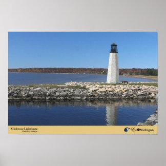 Gladstone Lighthouse - Gladstone, Michigan Poster