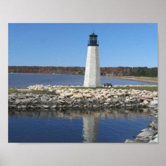 Gladstone Lighthouse - Michigan Poster