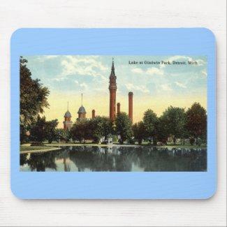 Gladwin Park Detroit Repro Vintage 1912 mousepad