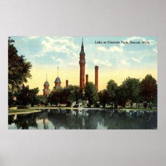 Gladwin Park Detroit Repro Vintage 1912 print