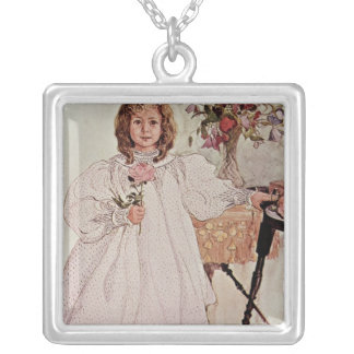 Gladys, 1895 silver plated necklace