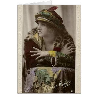 Gladys Cooper color portrait card