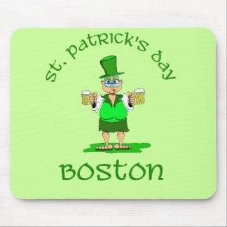 gladys de Boston del día de los patricks del st Alfombrilla De Ratones