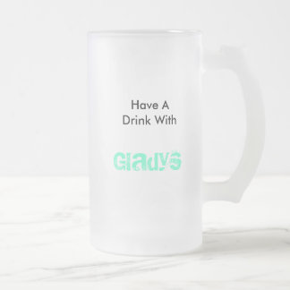 Gladys Frosted Glass Beer Mug
