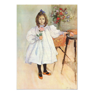 Gladys Holding a Pink Rose Card