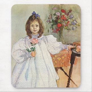 Gladys Holding a Pink Rose Mousepad