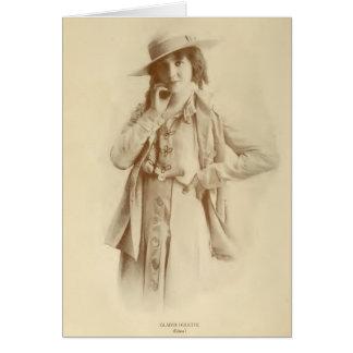 Gladys Hulette 1915 silent movie actress portrait Card
