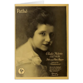 Gladys Hulette 1917 silent movie exhibitor ad Card