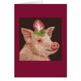 Gladys la tarjeta de felicitación del cerdo