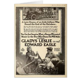 Gladys Leslie 1918 silent movie exhibitor ad Card