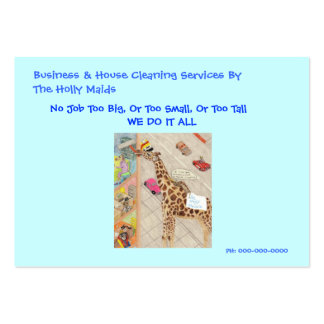 Gladys The Bedbug Maid Large Business Card