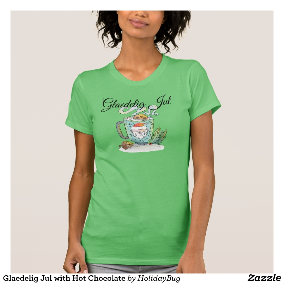Glaedelig Jul with Cocoa T-Shirt - Best Selling Long-Sleeve Street Fashion Shirt Designs