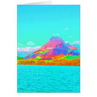 Glaicer National Park Many Glacier Art photo Card