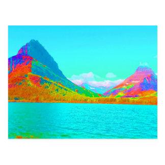 Glaicer National Park Many Glacier Art photo Postcard