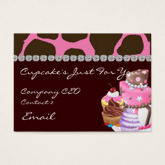 GLAM ANIMAL Design CUPCAKE  Business Cards
