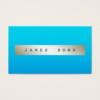 Glam Aquatic Blue Marine Ombre Ivory Vip Business Card