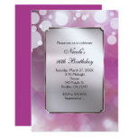 Hand shaped Glam Beauty Lights Pink Birthday Party Invitations