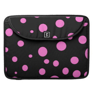 Glam Black with Pink Polka Dots Sleeves For MacBooks