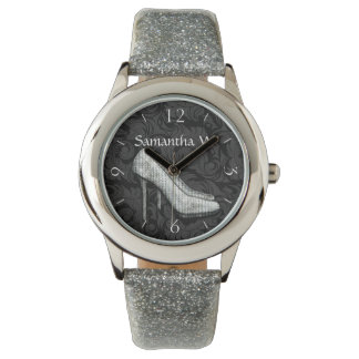 Glam Bling High Heel Shoe Wrist Watch