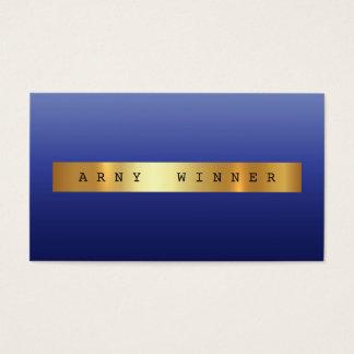 Glam Blue Marine Ombre Vip Golden Foil Business Card
