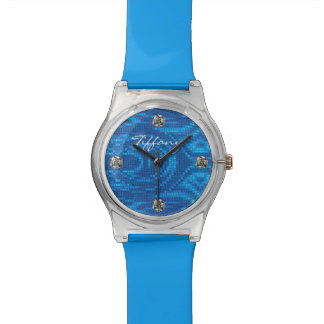 Glam Blue Sequin and Bling Look Watch