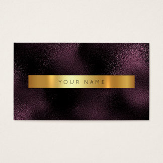 Glam Burgundy Noir Gold Marble Vip Business Card