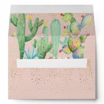 Glam Cactus Wedding Coordinating Envelope