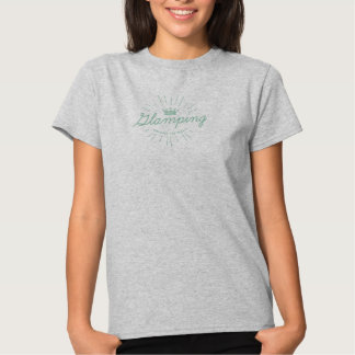 Glam Camping Vintage Crown Design Top Shirt