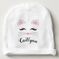 Glam Cat Face Baby Beanie