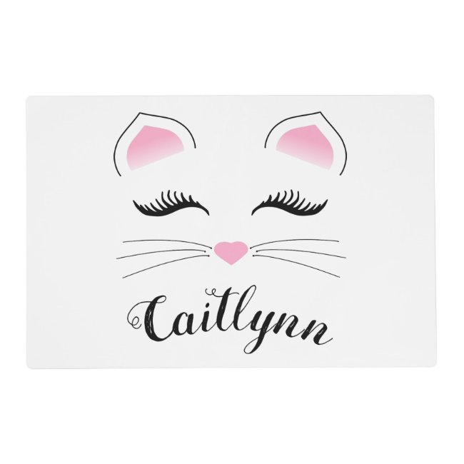 Glam Cat Face Placemat