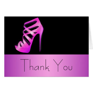Glam Chic High Heels Thank You Card